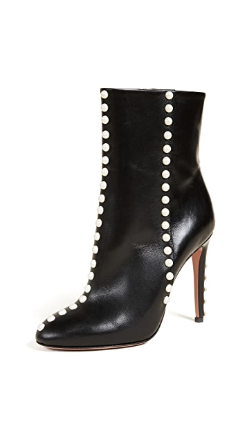 Aquazzura Follie Pearls 105 Booties