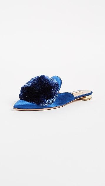 Aquazzura Powder Puff Flats - Blue Bell