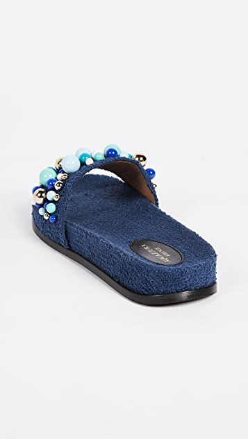 Aquazzura Bon Bon Pool Slides
