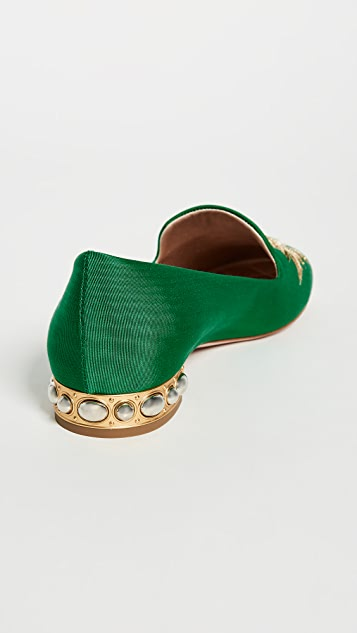 Aquazzura Embellished Slippers