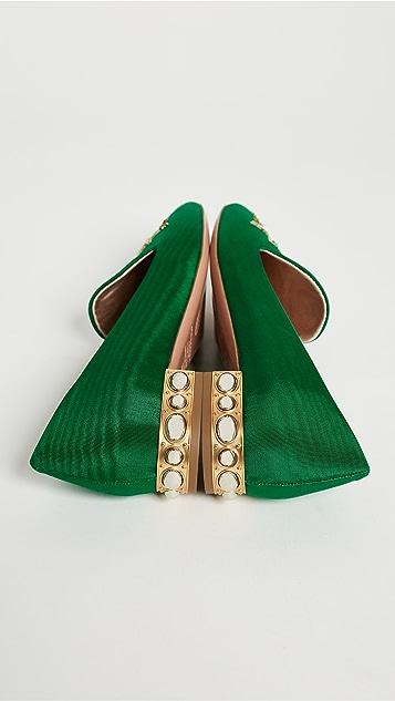 Aquazzura Embellished Slippers