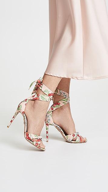 Aquazzura All Tied Up 105mm Sandals - Jaipur Pink