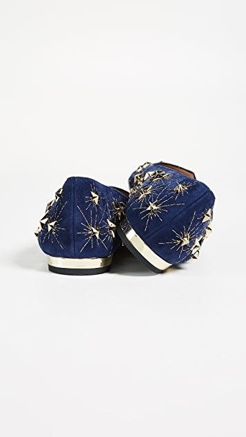 Aquazzura Cosmic Star Flats