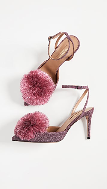Aquazzura Powder Puff 85mm Sling Pumps
