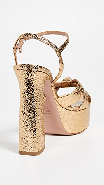 Aquazzura Baba Plateau Sandals