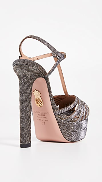 Aquazzura Moonlight Plateau 130 Sandals