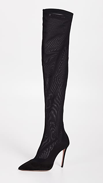 185f6c5e0fb6 Aquazzura Hot Stuff Over the Knee Boots | SHOPBOP