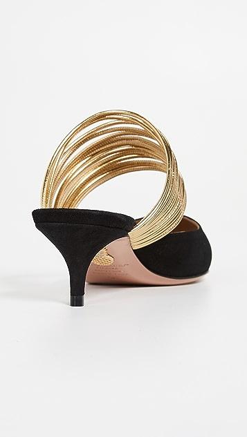 Aquazzura Туфли без задников Rendez Vous на каблуках высотой 45мм