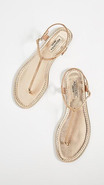 Aquazzura Almost Bare 平底凉鞋