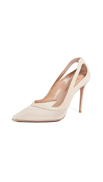 Aquazzura Shiva Mesh Pumps