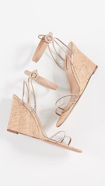 Aquazurra 极简主义 85mm 坡跟凉鞋