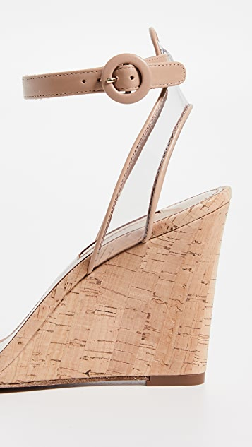 Aquazzura Minimalist 85mm Wedge Sandals