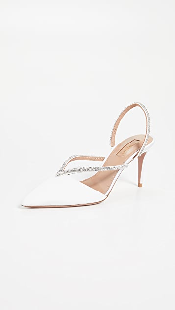 Aquazzura Eden Crystal Pumps 75