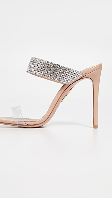 Aquazzura Spritz 105mm Plexy Mules
