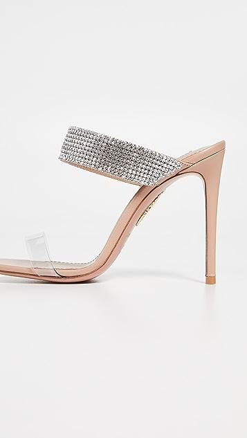 Aquazurra Spritz 105mm Plexy 穆勒鞋