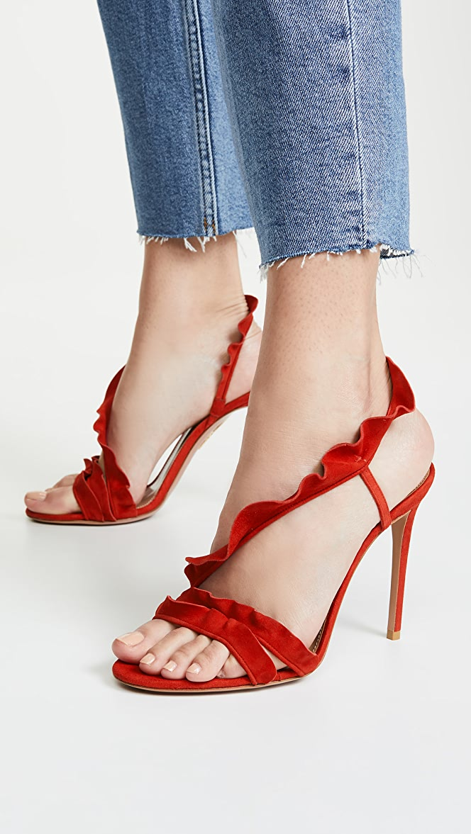 Aquazzura Ruffle 105mm Sandals Shopbop