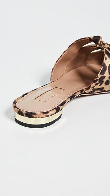 Aquazzura Туфли без задников Mondaine на плоской подошве