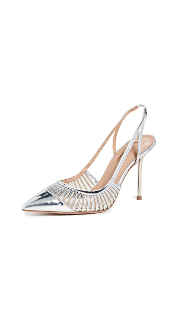 Aquazzura Zana 95mm Slingback Pumps