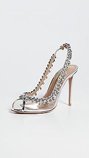 Aquazzura 105mm Temptation Crystal Sandals