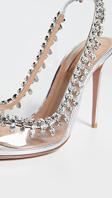 Aquazzura 105mm Temptation Crystal Sandals