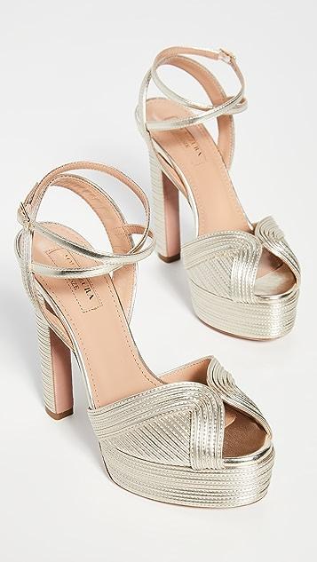 Aquazzura Caprice Plateau 130mm Sandals
