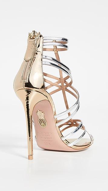 Aquazzura Сандалии Princess на каблуках высотой 105мм