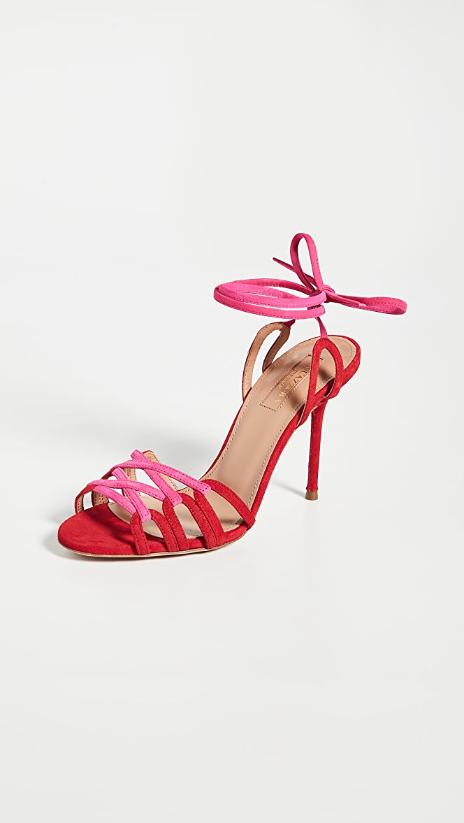 aquazzura pink sandals