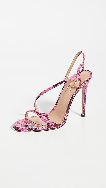 Aquazzura 105mm Serpentine 凉鞋