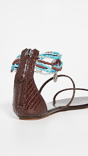 Aquazurra India 平底鞋