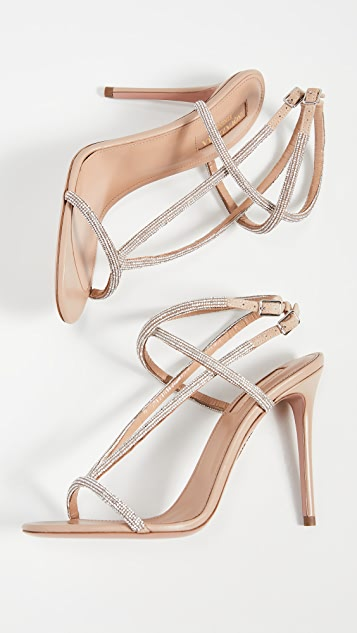 Aquazzura 105mm Moondust Sandals