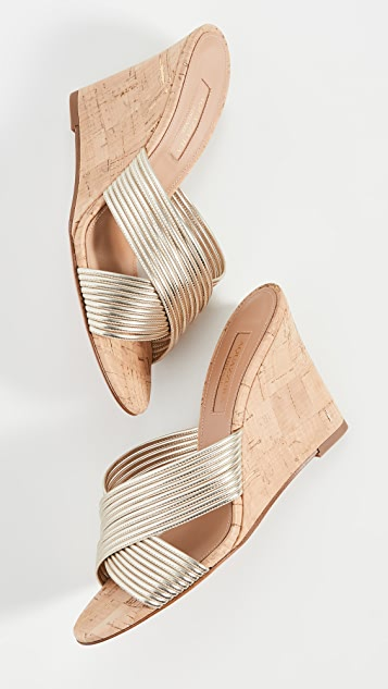 Aquazzura Perugia Wedge Sandals 85mm