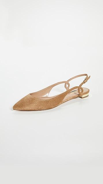 Aquazzura Serpentine Sling 平底鞋