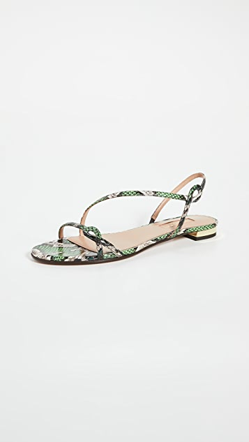Aquazzura Serpentine 凉鞋平底鞋