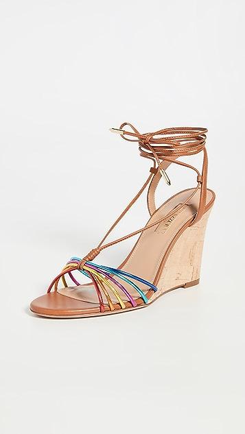 Aquazzura Whisper Wedge Sandals 85mm