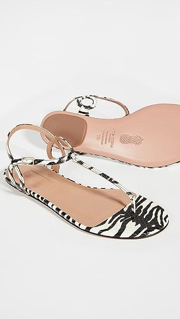 Aquazzura Almost Bare Sandal Flats