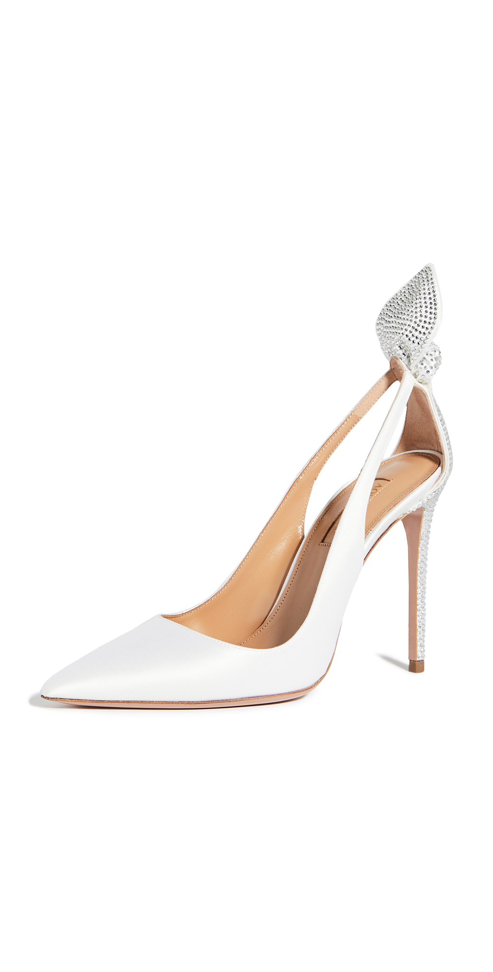 Aquazzura Bow Tie Crystal Pump 105mm