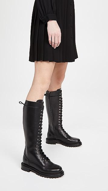 Aquazzura Combat Flat Boots