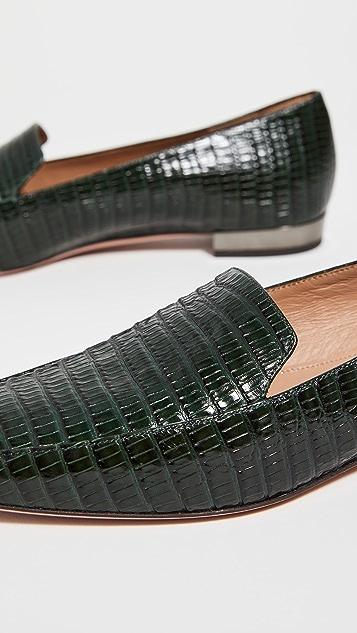 Aquazzura Greenwich Lined Loafers