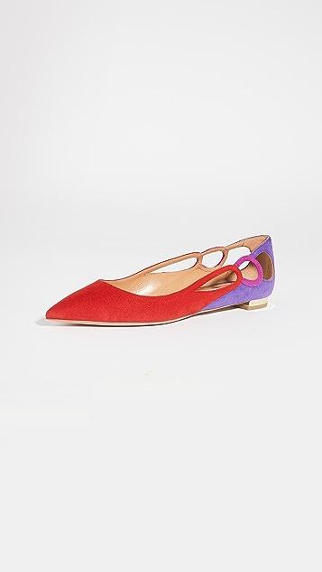 Aquazzura Fenix 平底鞋