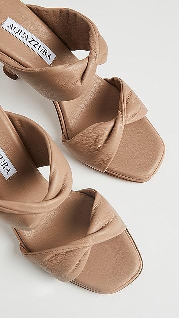Aquazzura 扭褶凉鞋 95