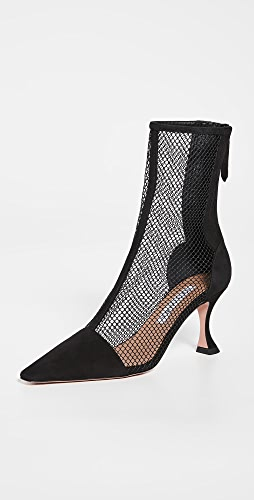 Aquazzura - Saint Honore Mesh Booties 75mm