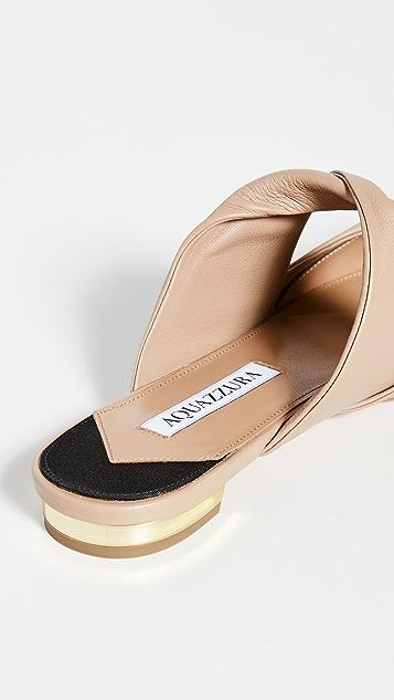 Aquazzura 扭褶平底鞋
