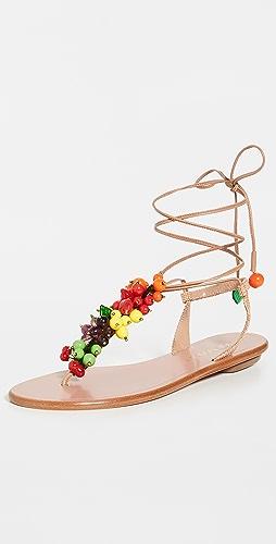 Aquazzura - Tutti Frutti Flat Sandals