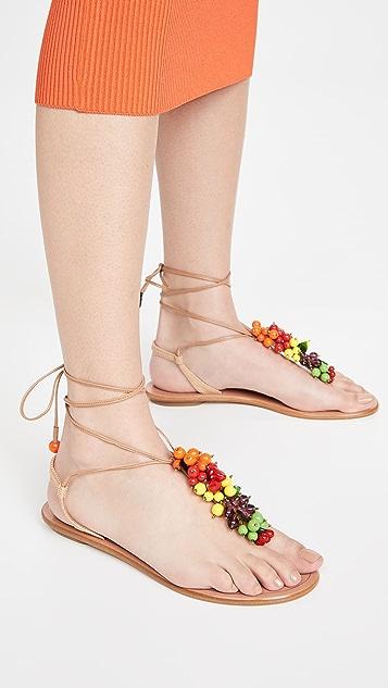 Aquazzura Tutti Frutti Flat Sandals