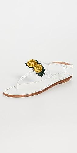 Aquazzura - Limoncello Flat Sandals