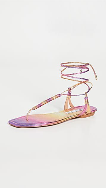 Aquazzura Sole Flat Sandals
