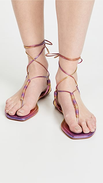 Aquazzura Sole 平底凉鞋
