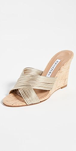 Aquazzura - Perugia 85 Wedge Sandals