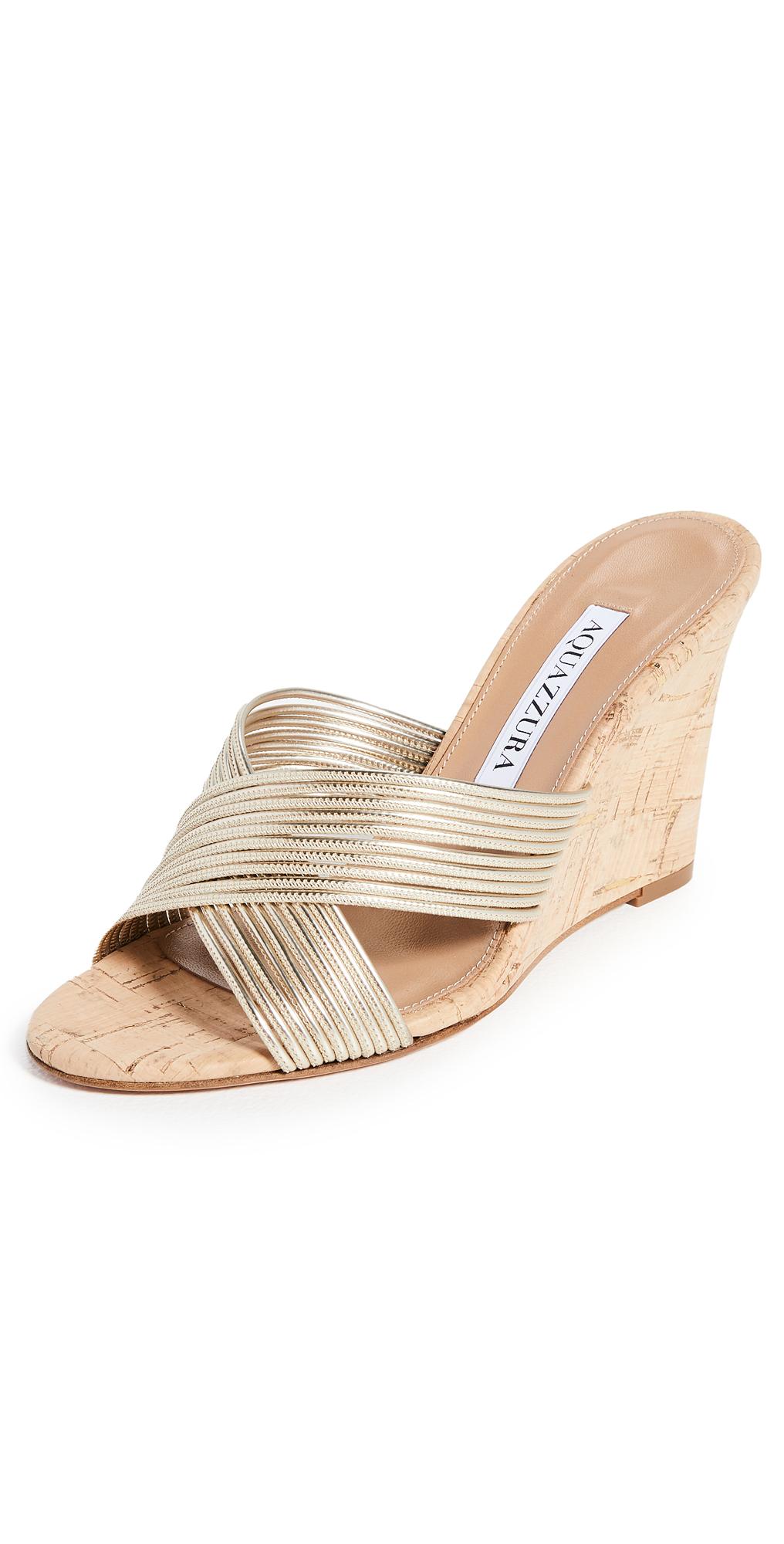 Aquazzura Perugia 85 Wedge Sandals