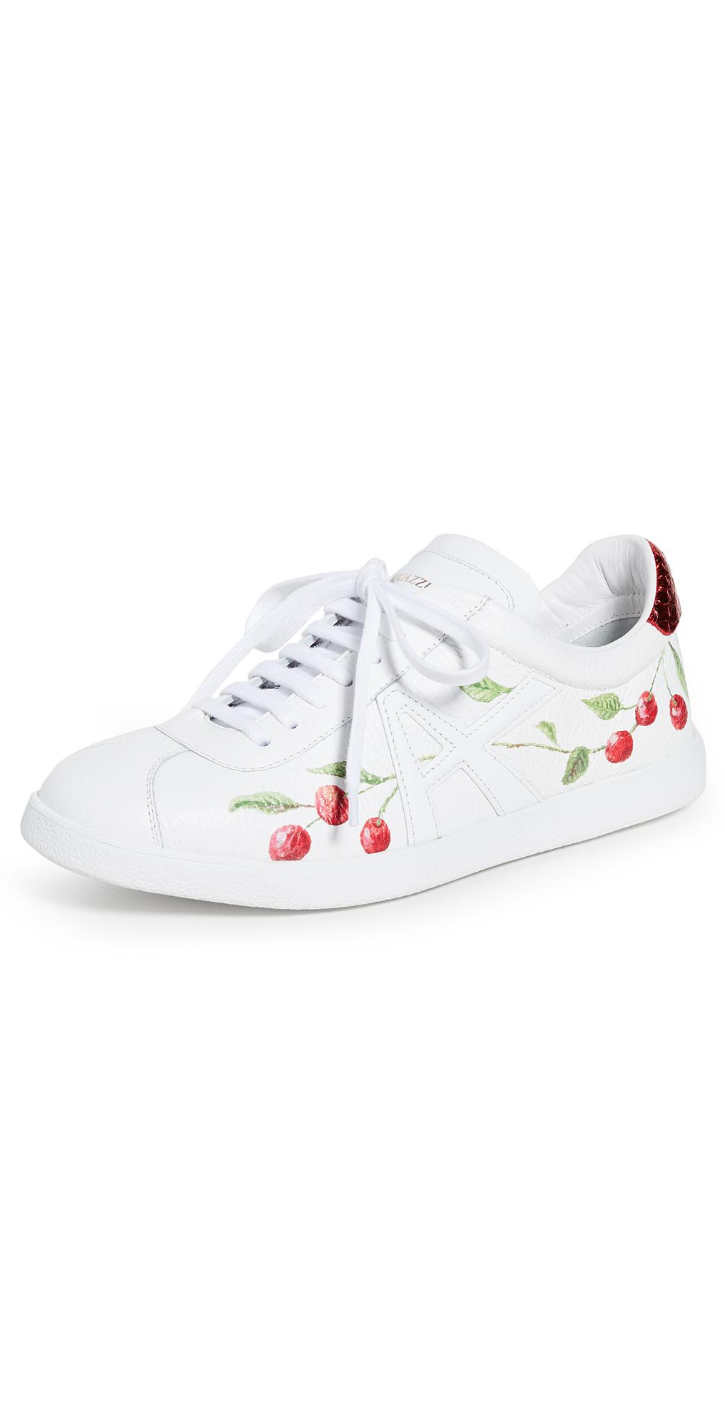Aquazzura The A Sneakers In Cherry